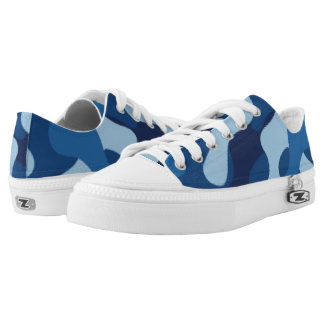 Blue Camouflage. Camo your Low Tops