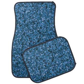 Blue Camouflage Car Mat Full Set
