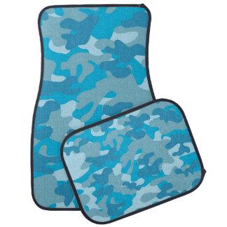 Blue Camouflage Car Mats