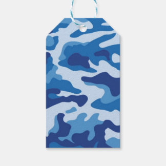 Blue Camouflage Gift Tags