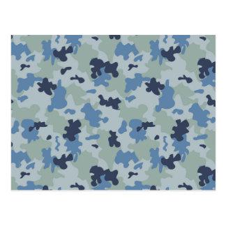 Blue Camouflage II Postcard