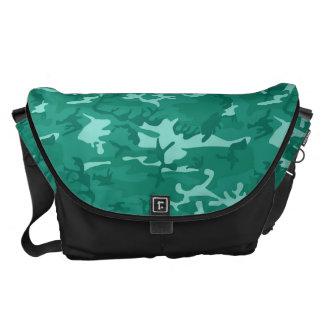 Blue Camouflage Messenger Bag