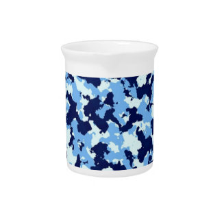 Blue Camouflage Pitcher