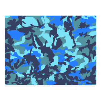 Blue Camouflage Postcard