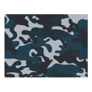 Blue Camouflage Postcard