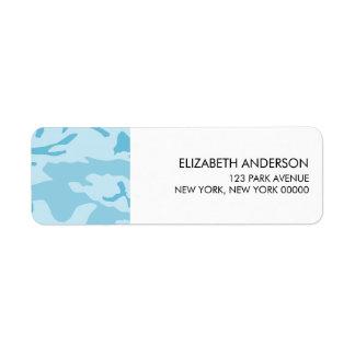 Blue Camouflage Return Address Labels