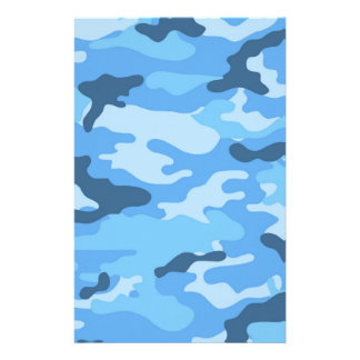 Blue Camouflage Scrapbook Crafting Paper