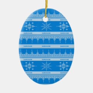 Blue Cancer Survivor Ornament