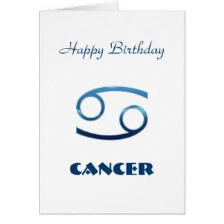 Blue Cancer Zodiac Sign Birthday Card
