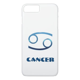Blue Cancer Zodiac Sign On White iPhone 7 Plus Case