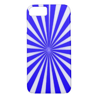 Blue Candy Cane Star Burst iPhone 7 Case