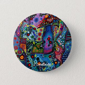 """Blue Candy Gloom"" 6 Cm Round Badge"