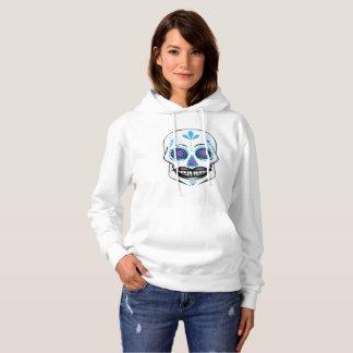 Blue Candy Skull Hoodie