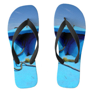 Blue Canoe with Rope Thongs
