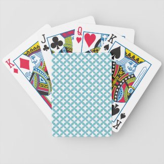 Blue Caracao And White Seamless Mesh Pattern Bicycle Playing Cards