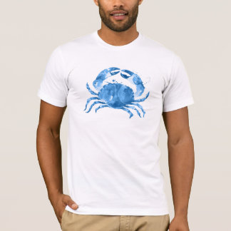 Blue Carb Watercolors Illustration T-Shirt