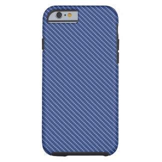 Blue Carbon Fiber Base Tough iPhone 6 Case
