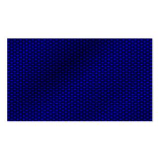 Blue Carbon Fiber Business Card Templates