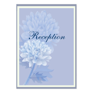 Blue Carnations Pack Of Chubby Business Cards