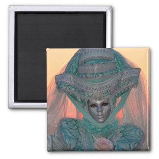 Blue Carnival Costume, Venice Magnet