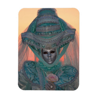 Blue Carnival Costume, Venice Rectangular Photo Magnet