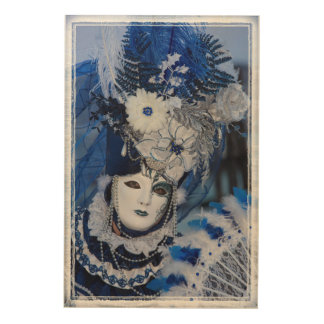 Blue Carnival Costume, Venice Wood Wall Decor