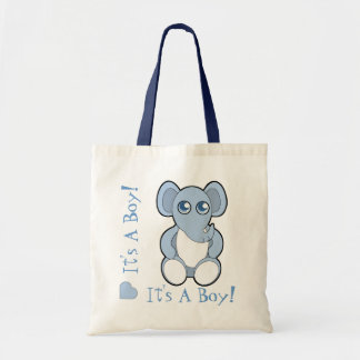 Blue Cartoon Baby Elephant New Mommy Bag