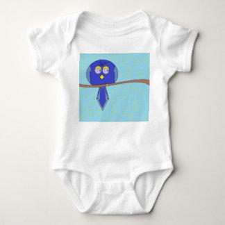 blue  cartoon bird baby baby bodysuit