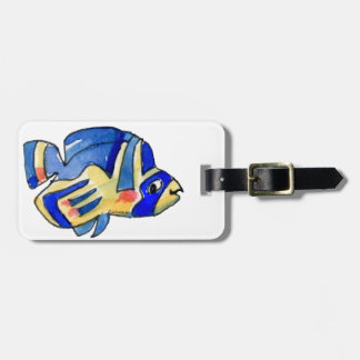 Blue Cartoon Butterfly Fish Tags For Luggage
