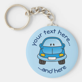 Blue cartoon car key ring