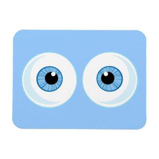 BLUE CARTOON EYES EYEBALLS FUNNY GRAPHICS RECTANGULAR PHOTO MAGNET