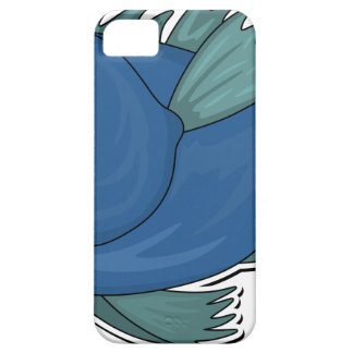 Blue Cartoon Fish Barely There iPhone 5 Case