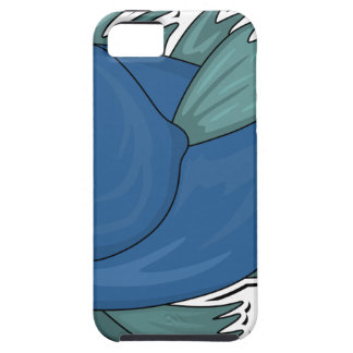 Blue Cartoon Fish Case For The iPhone 5