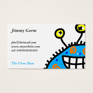Blue Cartoon Germ Business Card