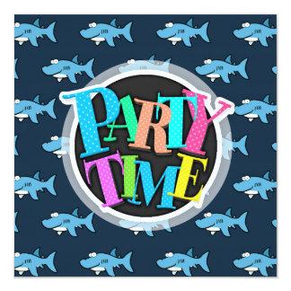 Blue Cartoon Shark Pattern Card