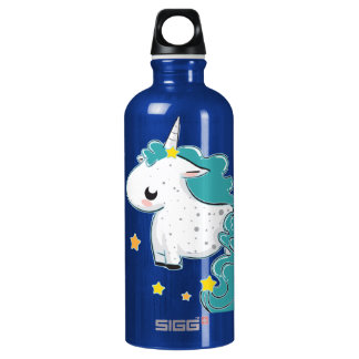 Blue cartoon unicorn with stars SIGG traveller 0.6L water bottle
