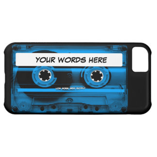 Blue Cassette Tape Personalised iPhone 5C Case