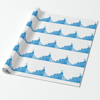 Blue Castles Pattern Wrapping Paper