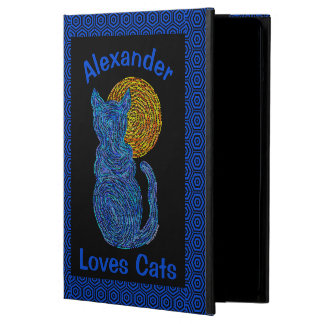 Blue Cat And The Moon Cat Lover Feline Kitten iPad Air Case