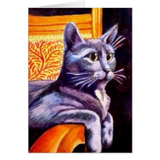 blue cat blank inside card