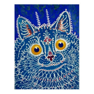 Blue Cat by Louis Wain Post Cards