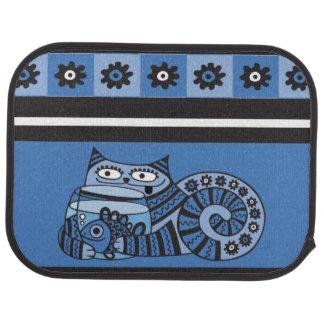 Blue Cat Car Mats (Rear) (set of 2)