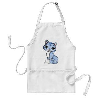 Blue Cat Cartoon Standard Apron