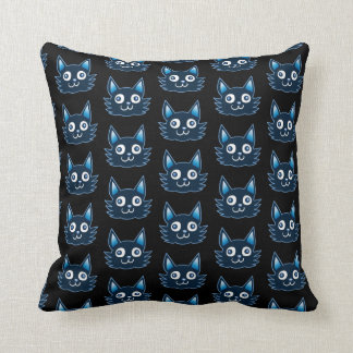 blue cat cartoon style vector illustration cushion