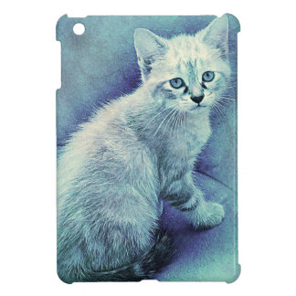 Blue Cat Cute Unique Case For The iPad Mini