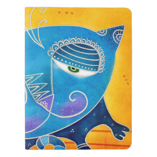 Blue cat extra large moleskine notebook