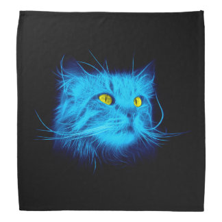 Blue Cat Face Bandana