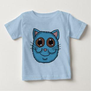 Blue Cat head Baby T-Shirt