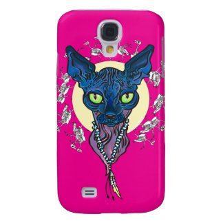 blue cat iPhone 3G/3GS Galaxy S4 Cases