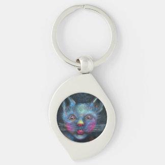 Blue Cat Key Ring